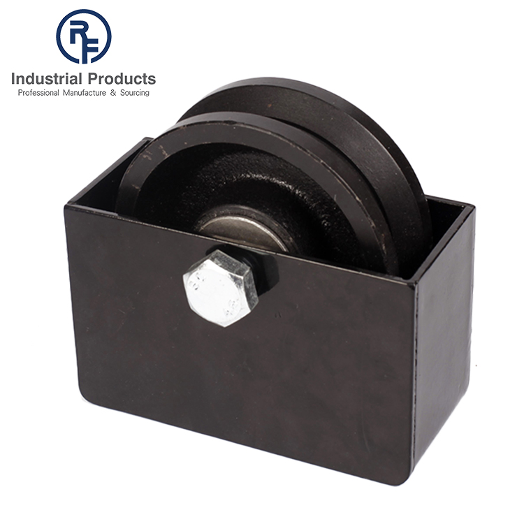 Black Powder Coated Wheel Boxes with Two Holes for V-groove Wheels