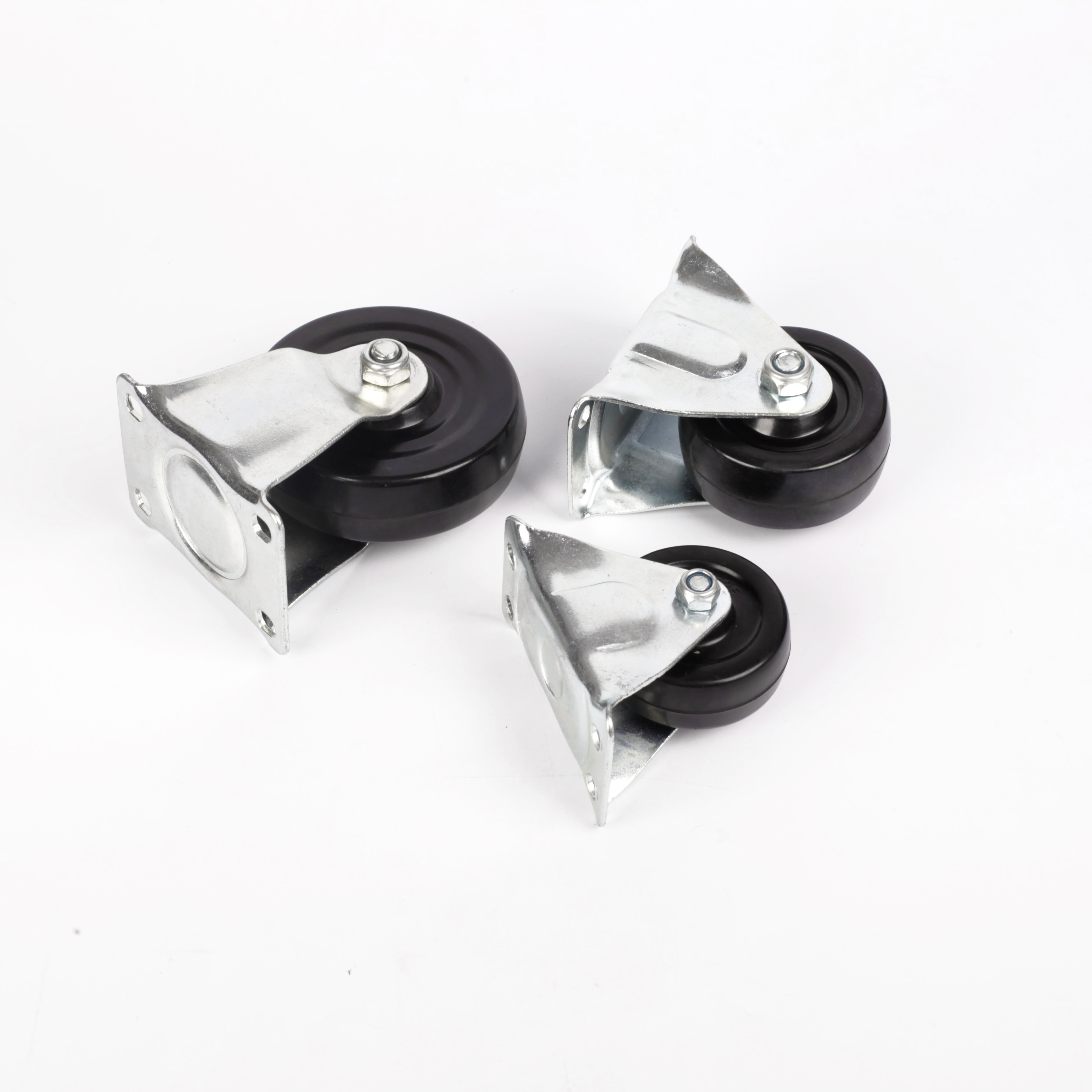 Rigid Rubber Caster Wheels for Siding Gate